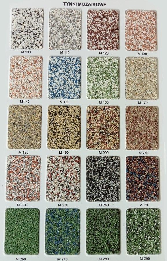 tynki mozaikowe Wzornik M1
