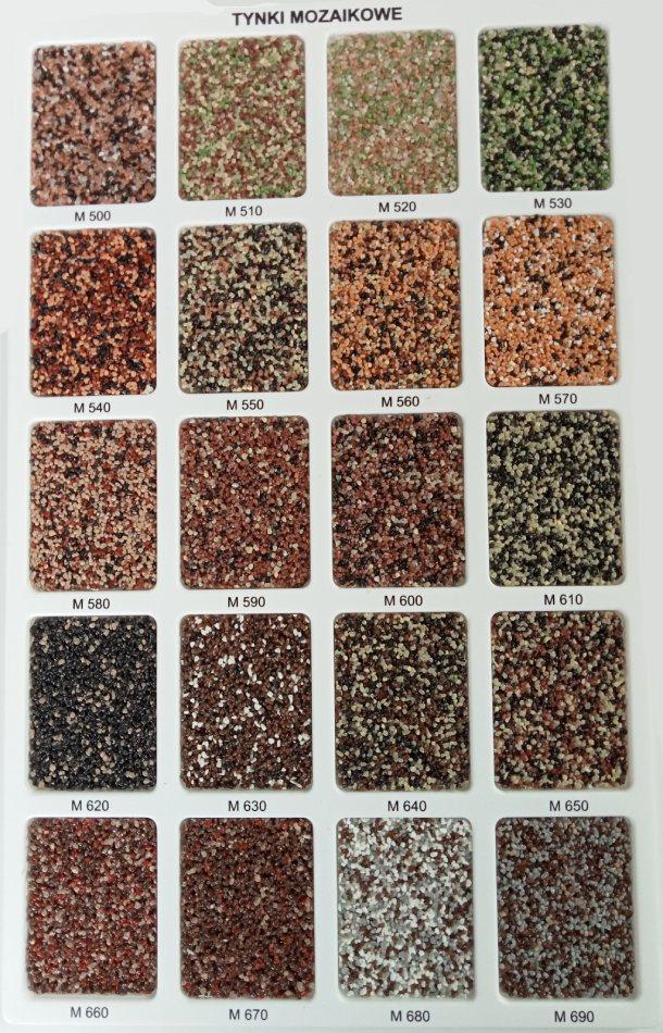 tynki mozaikowe Wzornik M3